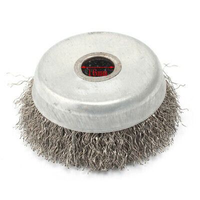 1pc Wire wheel brush Stainless steel Crimped Grinder Cup Cleaning Tool