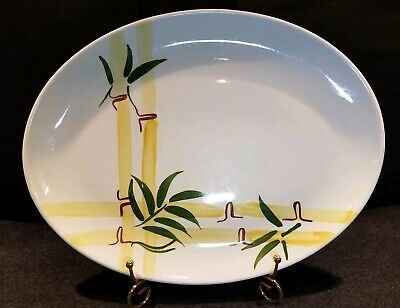 Vintage South Pacific Bamboo Oval Platter Mid Century Modern