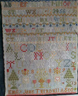 Vintage Sampler Needle Point Excellent Quality And Condition No Reserve