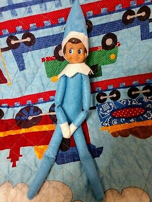 Blue Christmas Boy Elf,  Blue Eyes Boy Doll only  Shelf Elf