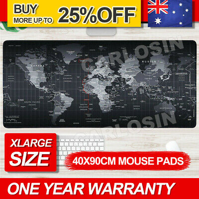 40x90cm World Map Mousepad Mouse Pad Mat Gaming Laptop Computer LARGE AU STOCK