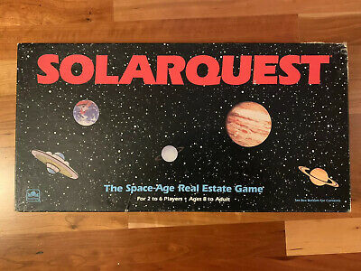 Solarquest Board Game Western Publishing 1986 Space Age Real Estate 100%Complete