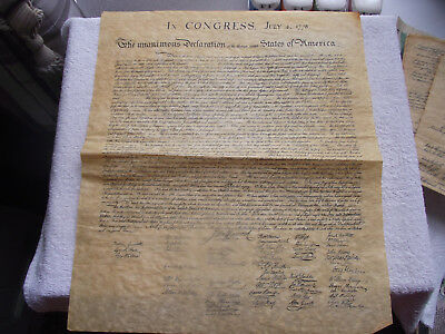 Reproductions of  Documents of Freedom on Antiquated Parchment Paper