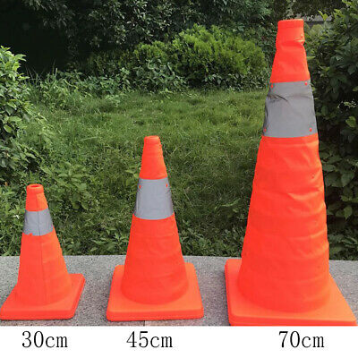 Pop Up Collapsible Portable Safety Cone Football Traffic Posts Driving Cones