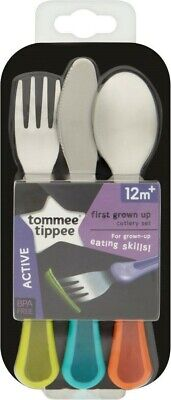 for Boys Tommee Tippee Explora 1st Grown Up Cutlery Set 12m 446608
