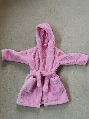 Girls Fleece Dressing Gown Aged 2-3, Marks And Spencer