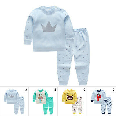 Style Kids sleepwear Winter Girl Toddler Cotton Long Clothes Night wear