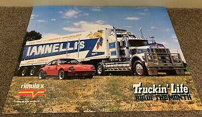 Truckin Life Poster, Rig Of The Month 1985 Iannellis Kenworth Gold Nugget