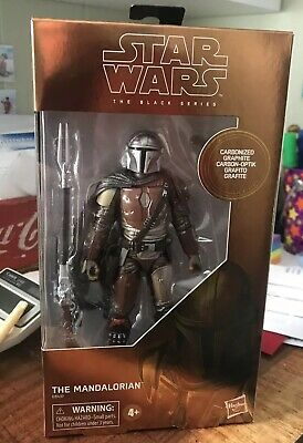 Star Wars THE MANDALORIAN Black Series Carbonized Graphite Target In Hand