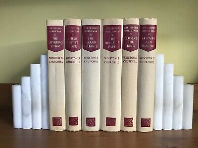 Winston Churchill - The Second World War - complete 6 vols set rare white
