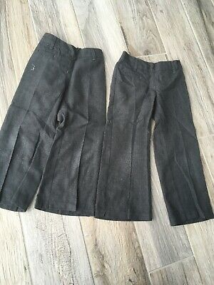 Girls Grey Marks And Spencers School Trousers Age 4