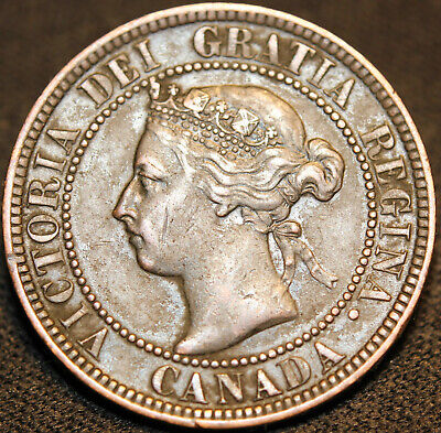 #118# 1900 Canadian Coins Large Cent Queen Victoria