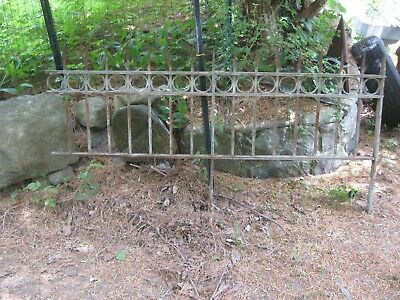 """Antique Vintage Metal Cast Iron Wrought Garden Fence 6'6"""" Very Heavy"""