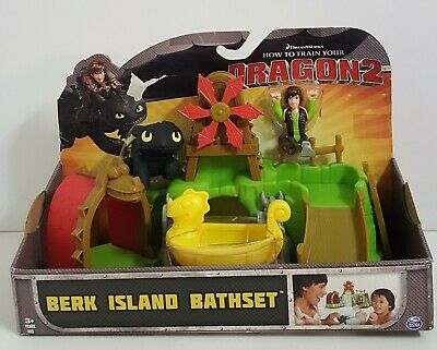 How To Train Your Dragon2 Berk Island Bathset Bathtub Water Toy Hiccup Toothless