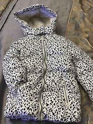 Little Girls Next Animal Print Fur Lined Hooded Coat Jacket Age 2-3 Yrs VGC Warm