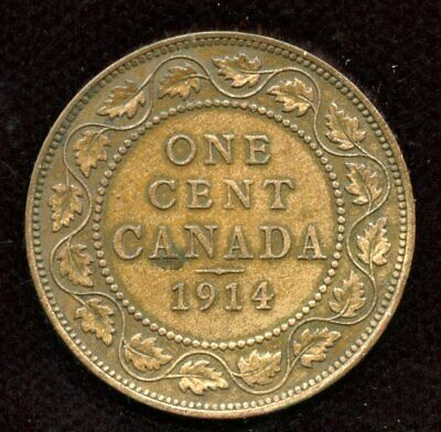 1914 Canada Large One Cent - Nice About Uncirculated Condition