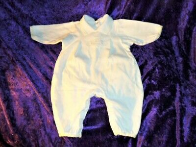 Baby Christian Dior White Romper Outfit Vintage Unisex Boy Girl Pastel Bunny 0-3