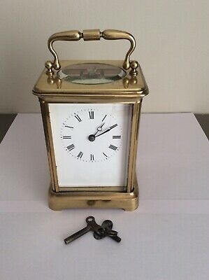 Vintage French Brass Cased Carriage Clock