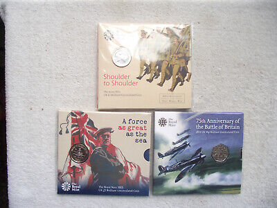 Collectable £2 Coins x 2 and a 50p Coin. Military Theme.