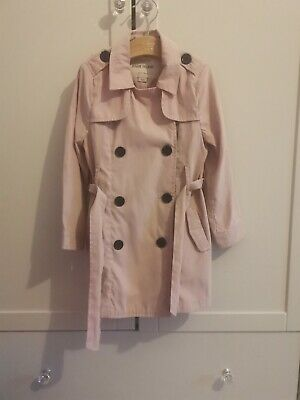 River Island Girls Pink Mack Coat With Belt Age 3 Years