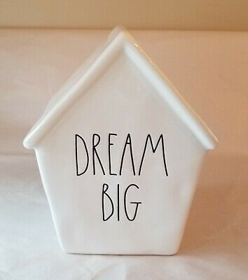 NEW Rae Dunn DREAM BIG Birdhouse Shaped Piggy  Bank