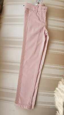 Girls Pink Slim Fit Trousers