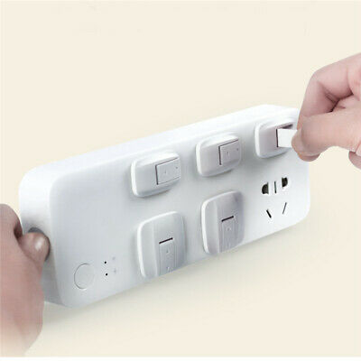 8 pcs Wall Socket Cap Infants Safety Anti Electrical Plugs Hole Outlet Cover 6A