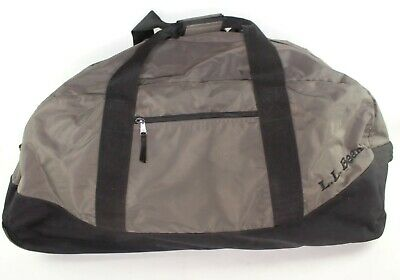 """LL Bean Rolling Luggage Hard Bottom Extra Large Reinforced Duffle Bag  33x16x15"""""""