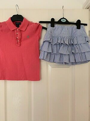 Girls Ralph Lauren Skirt And T-shirt Age 6 Years