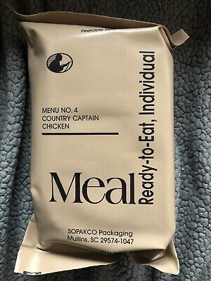 MRE  U.S. Military Surplus Meals Individual Menu 4 Country Captain Chicken