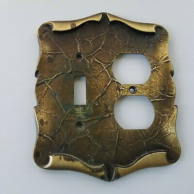 Amerock Carriage House Antique Brass Combo Switch Plate Outlet Cover Vintage