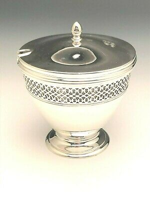 Tiffany & Co. Sterling Silver with Glass Liner Condiment Jar, with mono