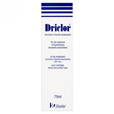 Driclor 75Ml Roll On All Over Antiperspirant For Excessive Sweating Free Postage