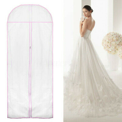 150CM Wedding Dress Storage Bag Bridal Gown Garment Cover Carrier Zip  🔥