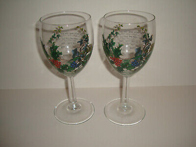 Portmeirion - The Holly & The Ivy - Wine Glasses x 2
