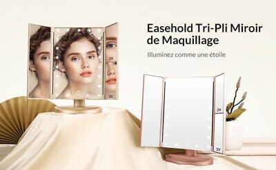 Miroir maquillage led Rotation 180°