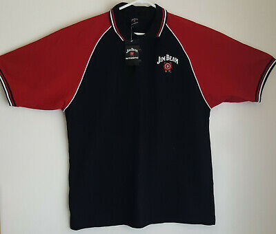 JIM BEAM Authentic Mens Black Polo Shirt  XXL *New with Tags