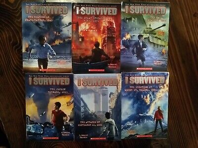I Survived Lot of 6 Books by Lauren Tarshis (Grades 2-5)