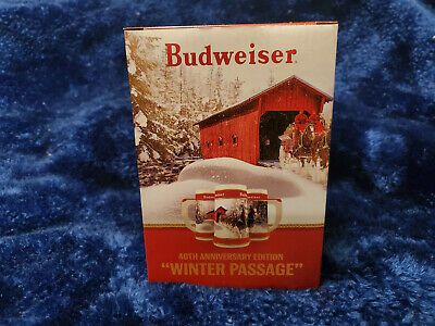 LOOK!!  2019 40th Year  Budweiser Anheuser Busch  Holiday Christmas Stein. NEW!!
