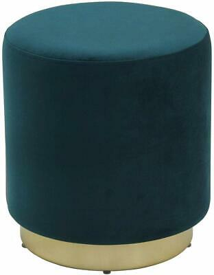 Modern Footstool Pouffe Tall Footrest Retro Style Seat Velvet Furniture Teal