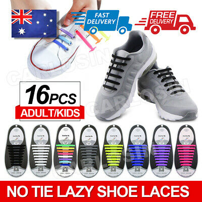 Easy Lazy No Tie Elastic Silicone Shoe Laces Cool Guy Sports Shoelaces Unisex