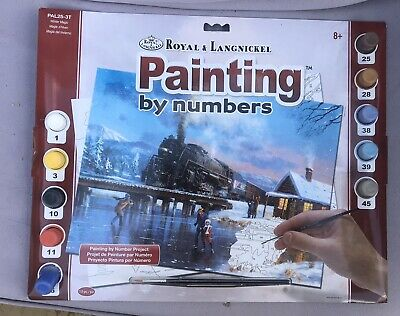 royal and langnickel painting by numbers Winter train