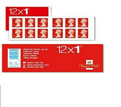 Royal Mail 1st Class Stamps - 3 Books of 12 Self Adhesive Total 36 Stamps New