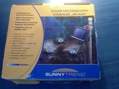 BNIB solar powered underwater pond lights- Christmas gift?