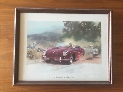 Porsche 356 Frame  Collection Orignal Vintage 30cm 23cm