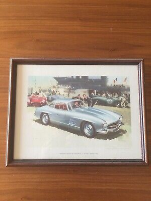Mercedes 300 SL Frame  Collection Orignal Vintage 30cm 23cm