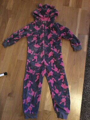 Girls Age 5-6 Years Next All In One Pyjamas Bunny Rabbit Cat