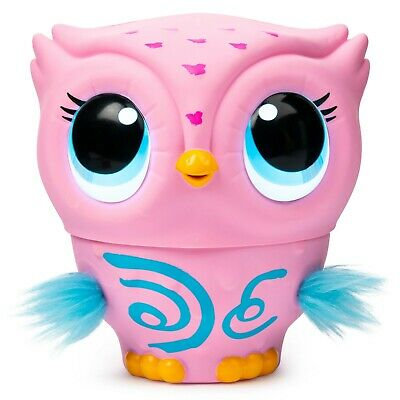 Owleez, Flying Baby Owl Interactive Toy with Lights and Sounds Pink New