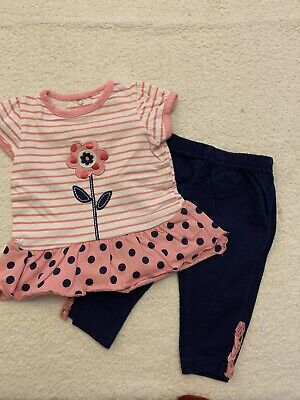 Baby Girls Top And Leggings Set Age 3 Months
