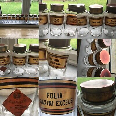 Antique Apothecary Chemist Jars Bottles Containers French 1900